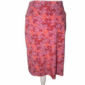 LuLaRoe pink Floral Skirt